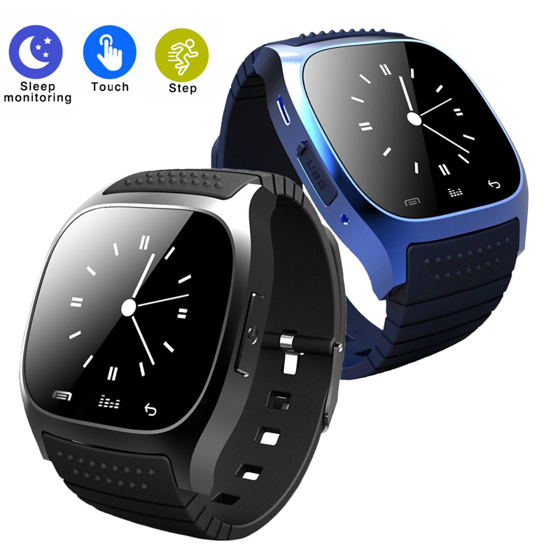 2018 Smart font b Watch b font M26 Woman Men Bluetooth Altimeter Stopwatch Smartwatch Sync Music