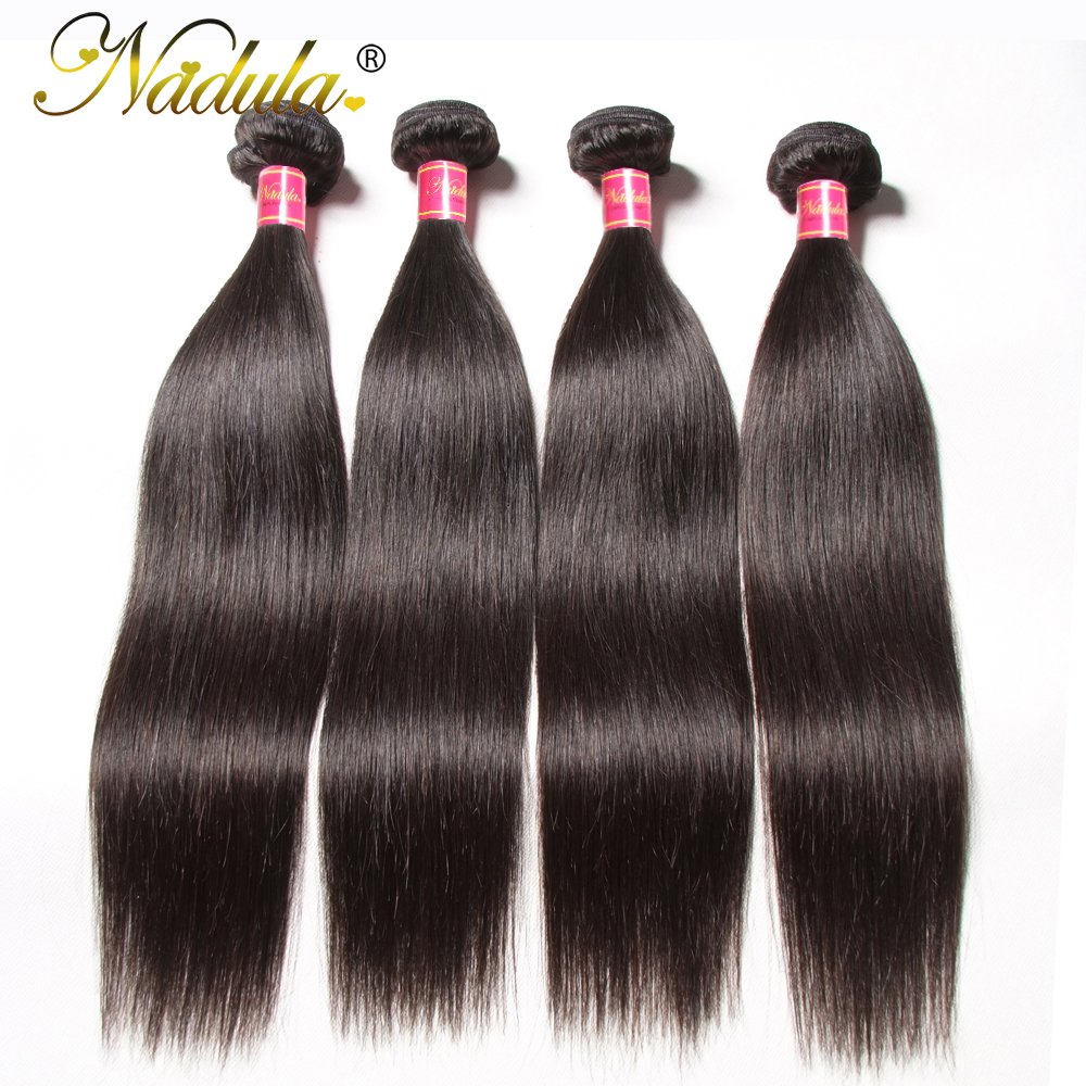 Nadula Hair Indian Straight Hair 3 / 4Bundles Indian Hair Straight - Cabello humano (negro) - foto 3