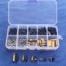 NEW M3 Brass/Nylon Spacer Standoff / Screw / Nut Male Female PCB Board Screw Assortment Platter Kit Set #M3 Black m2 brass male female standoff pillar mount threaded pcb motherboard pc computer round spacer hollow bolt screw long nut