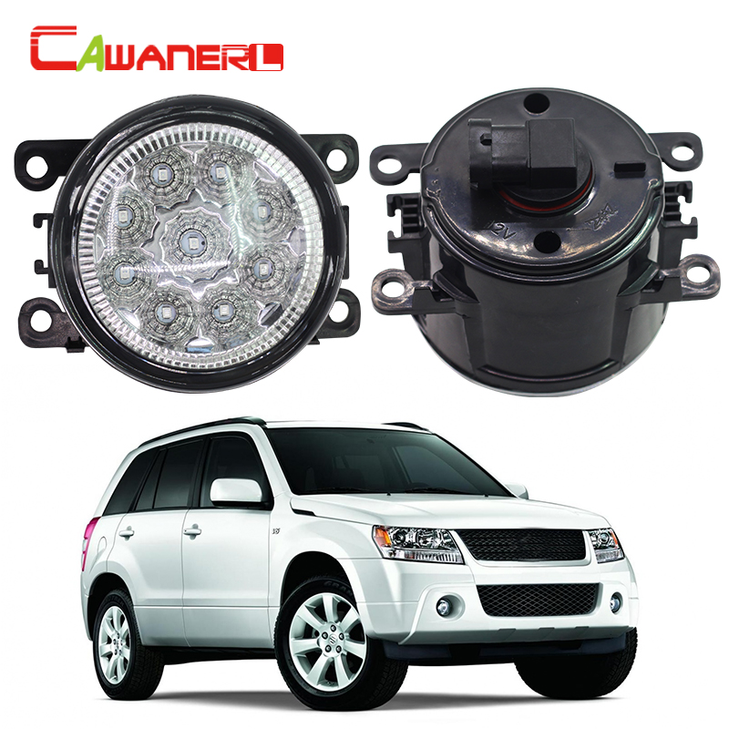 Cawanerl 1 Pair Car Styling LED Light Fog Lamp Daytime Running Light DRL DC 12V For Suzuki Alto Grand Vitara Jimny SX4 Splash cawanerl 1 pair car styling led light fog lamp daytime running light drl dc 12v for suzuki alto grand vitara jimny sx4 splash