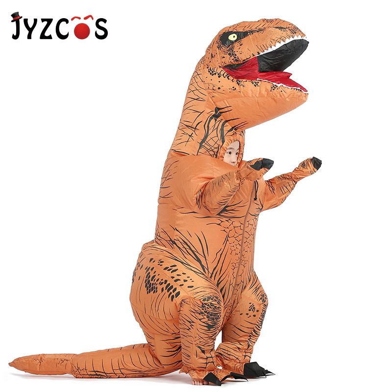 JYZCOS t rex Inflatable Dinosaur Costume Halloween Costume for Kids Dinosaur Cosplay Costume Fancy Dress Costume Men in Girls Costumes from Novelty Special Use