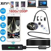 Wifi Endoscope 8mm 1200P HD For Android IOS Iphone Soft Cable Wire Pipe Camera Snake Camera