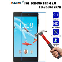 XSKEMP For Lenovo Tab 4 7″ TB-7504 F/N/X 9H Shockproof 9H Toughened Real Tempered Glass Tablet Film Clear Screen Protector Cover