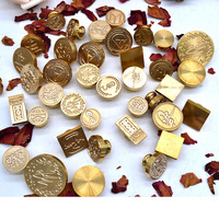 Custom Made Wax Seal Stamp For DIY Manuscripting Wedding Invitation Decoration With Metal Wooden Handle Stamp