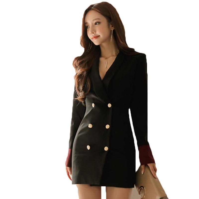 Blazers For Women: 2018 Spring Fall Fashion OL Formal Long Blazer Women Slim