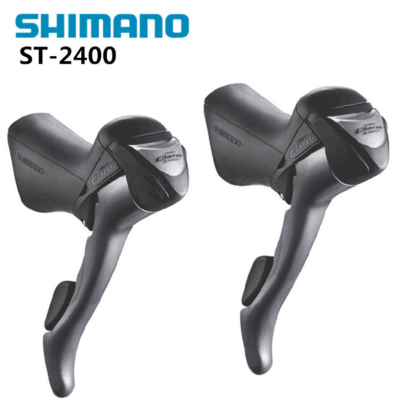 shimano CLARIS ST 2400 2x8S 16S Shifter / Brake Lever Road Bike Bicycle Parts Include Inner Cables shimano ultegra st 6700 shift brake lever 2 10s road bike shifter 6700 20s