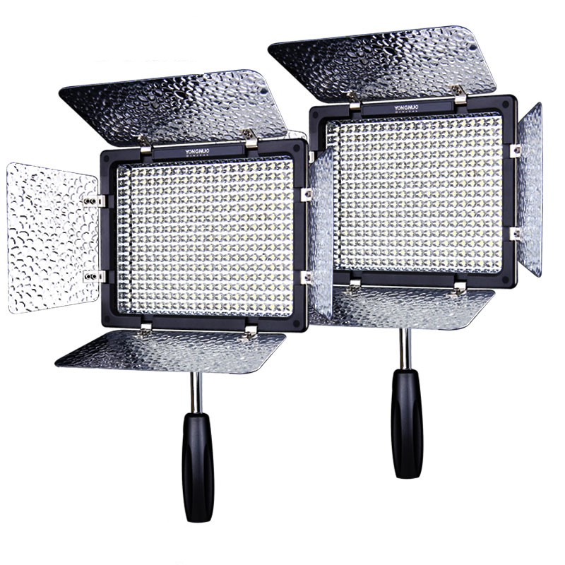 2PCS YONGNUO YN300 III YN300III YN-300 III CRI95 3200K-5500K LED Video Light with Barndoor photographic led panel lamp yongnuo yn300 iii yn 300 iii yn300 iii pro led video light for dv camcorder canon nikon pentax olympus samsung panasonic jvc