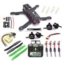 Carbon Fiber 250 250mm Quadcopter Frame 2204 2300kv Motor simonk 12A Esc CC3D EVO Flight Controller / Flysky FS i6X 10CH