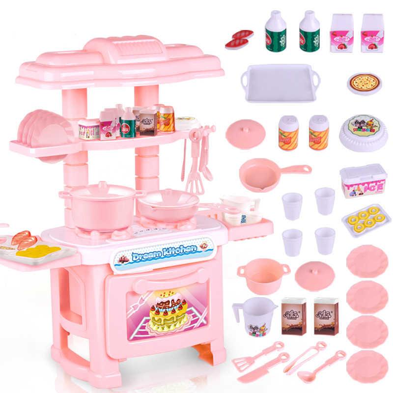 1 комплект детский игровой дом игрушки столовая посуда для девочки наборы детские игрушки игрушечные кухонные принадлежности модель игрушечный миксер игрушки
