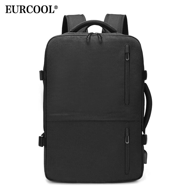 多功能15.6英寸笔记本电脑背包大容量扩展带USB充电端口旅行背包防水n1711Рюкзак