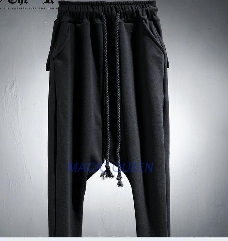 2742 Entrejambe Nouvelle 2019 automne Noir Hommes Pantalons Chaude Harlan Printemps Bas Mode Le y8nOmv0Nw