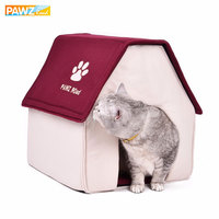 Pawz Road Domestic Delivery Dog House Dog Bed Cama Para Cachorro Soft Daily Products For Pets Cats Dogs Home Shape Red Green