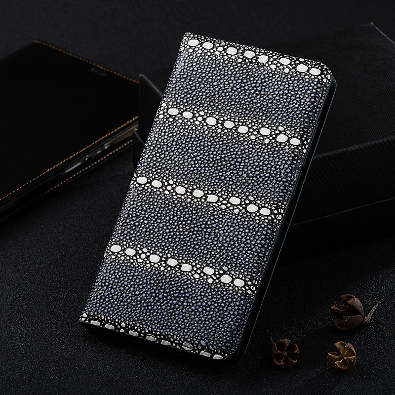 Pearl Fish Texture Magnet Stand Flip Cover For Huawei Honor 6 / 6 Plus / Honor 6X Cowhide Genuine Leather Mobile Phone Case