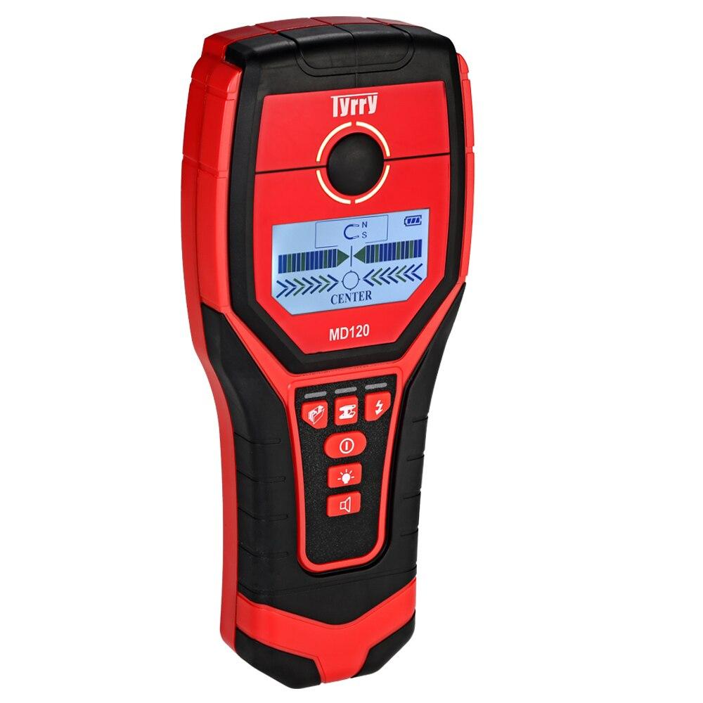Détecteur de métaux souterrain multi-fonctionnel numérique détecteur de mur pinpointer métal bois goujons Finder câble AC Scanner de fil en direct