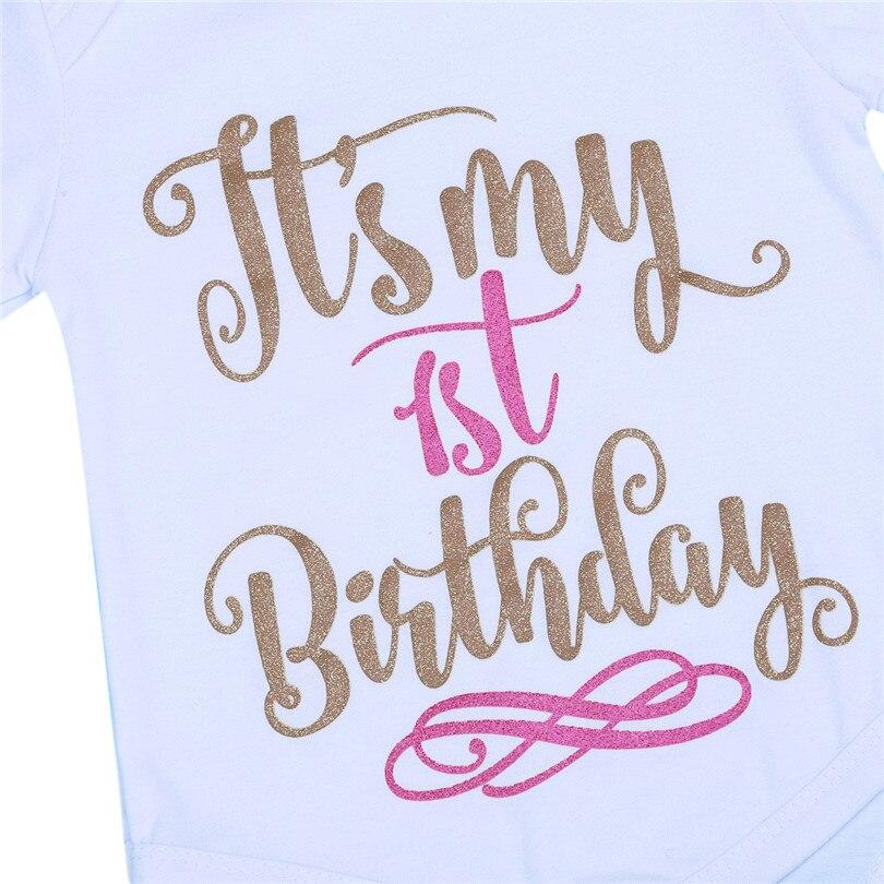 Es Ist Mein Erster Ersten Geburtstag Outfits Sommer Baby Kleidung Kleinkind Madchen Taufe Anzuge Sets Fur Bebes Kinder Taglichen Tragen In