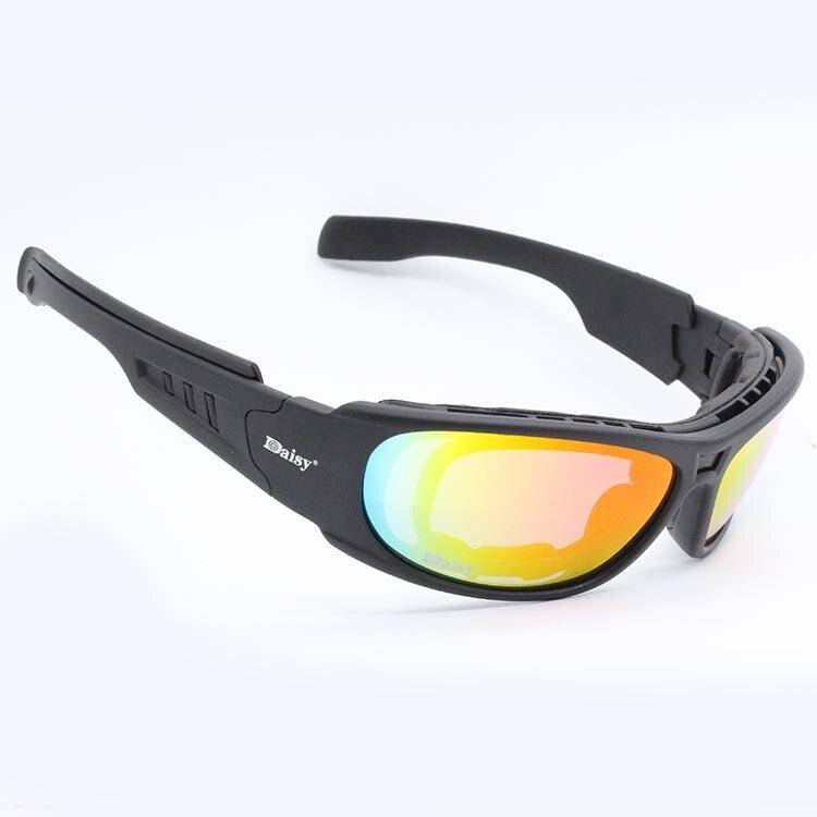 Image 3 - Очки с поляризационными стеклами Daisy C6, армейские тактические  очки для охоты на мотоцикле, страйкбольные пуленепроницаемые военные  очки с 4 линзами в комплектеmotorcycle glasses gogglesmotorcycle  gogglesmotorcycle glasses -