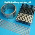 18650 baterías de iones de litio batería 6 P cinturón de níquel níquel Celular cinta espaciamiento 20.2mm baterías EV barras conectar el placa de níquel