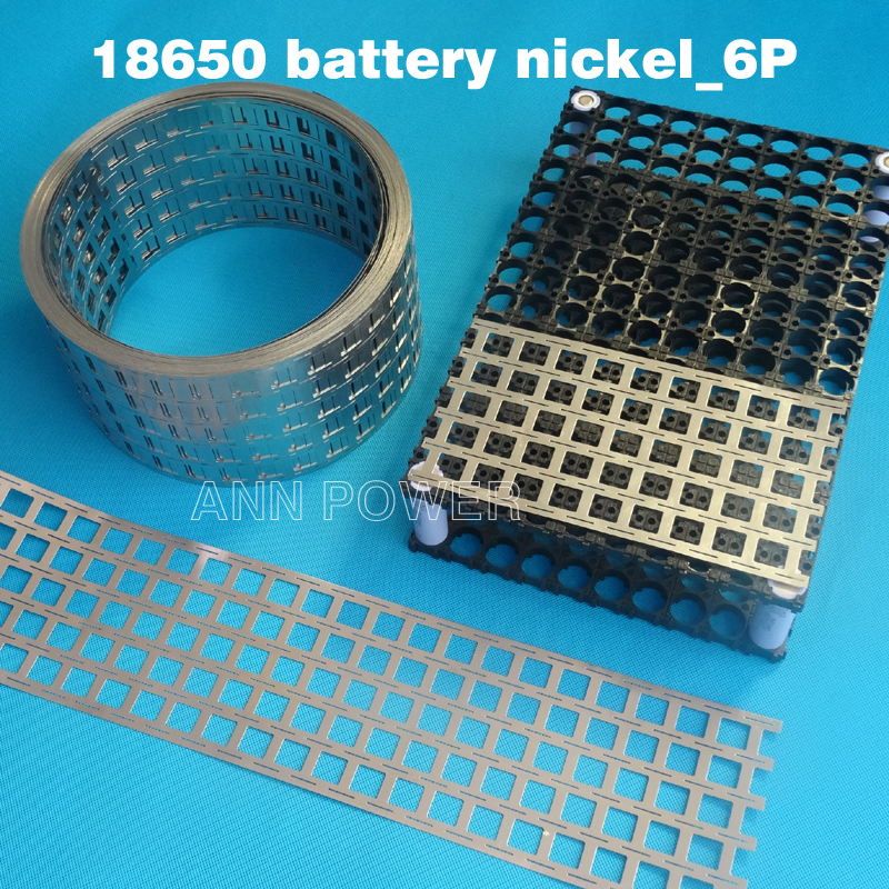 18650 battery 6P nickel belt lithium ion batteries nickel tape Cell spacing 20.2mm EV batteries busbar connect the nickel plate liitokala new original 18650 2500mah batteries inr1865025r 3 6v discharge 20a dedicated battery power diy nickel sheet