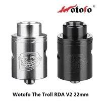 100% الأصل wotofo ترول v2 rda rebuildable نازف البخاخة الملتوية لفائف خزان مزدوج قابل للتعديل اثنان بوست المؤخرة