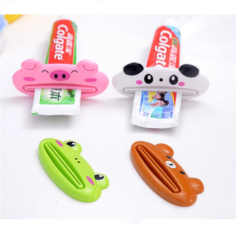 Lovely Animal Tube Squeezer, Cartoon Bathroom Toothpaste Dispenser, Easy Squeeze Paste Dispenser, Pig Panda Frog Bear