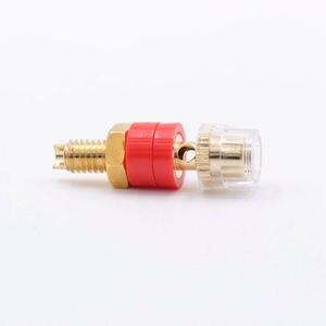 Image 5 - 10 piezas TERMINAL de altavoz Mini Latón chapado en oro amplificador Banana de Jack hembra conector de Audio HiFi DIY