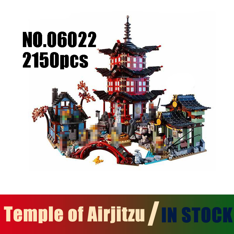 06022 2150pcs Ninjago Temple of Airjitzu Toys Building Blocks legoe 70751