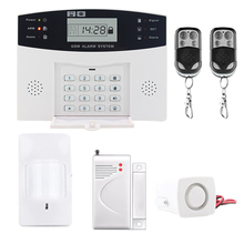 Hot sale LCD Display Wireless GSM Home Security Auto Dialing Dialer SMS Call Burglar Alarm Systems wireless gsm alarm home security sms controller king pigeon 4 inputs 2 outputs usb port 2 way communication s140 sms controller