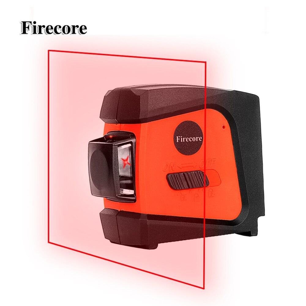 Firecore A8846 Mini 4 Linee di 360 Gradi Red Level Laser (Auto Auto-Livellamento nella Gamma di 3 gradi)