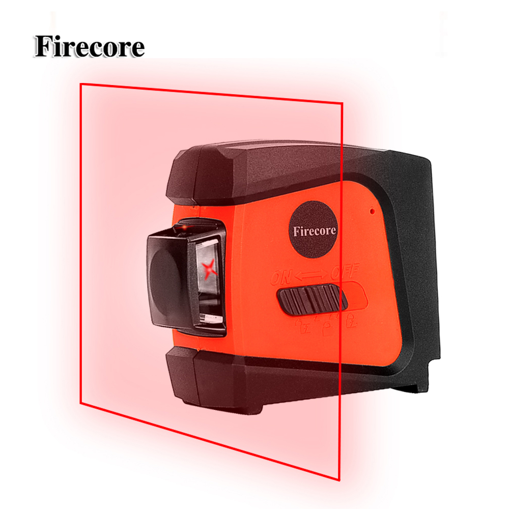 Firecore A8846 Mini 4 Lines 360 Degrees Red Laser Level (Auto Self-Levelling In the Range of 3 Degrees )