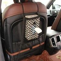 30*25cm Car Organizer Seat Back Storage Elastic Car Mesh Net Bag Between Bag Luggage Holder Pocket for Auto Vehicles Car Styling