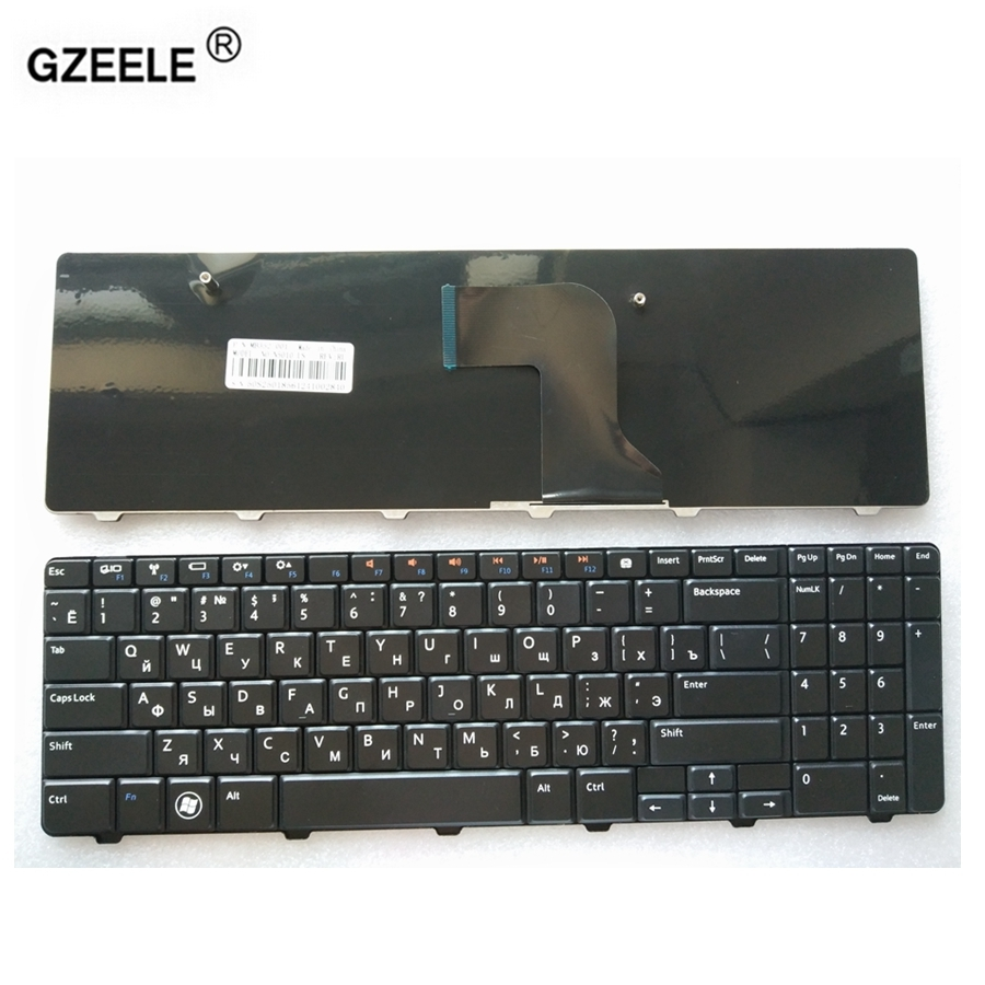 GZEELE RUSSIAN Laptop Keyboard For Dell N5010 15R M5010 N5010D M501R INS15VD-1318 1308 1316 RU Layout V110525AS1 9Z.N4BSW.A0R