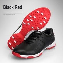 2017 Men's Golf Shoe Outdoor Sports Shoes Waterproof EVA Midsole Microfiber Leather