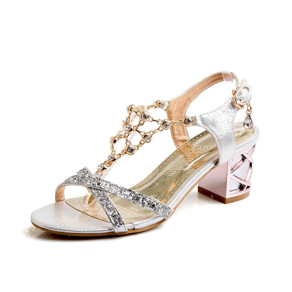 line Get Cheap Diamond Gold Sandals Aliexpress