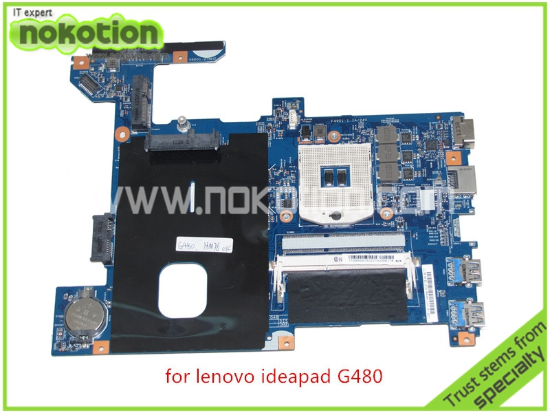 NOKOTION 11S90000783 48.4SG06.011 For lenovo G480 motherboard 14'' inch HM77 HD4000 DDR3 one memory slot nokotion sps v000198120 for toshiba satellite a500 a505 motherboard intel gm45 ddr2 6050a2323101 mb a01