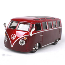 Red and Yellow Colors 1/32 Scale Volkswagen VW Van Samba Bus Models Collections Gifts Displays(China)