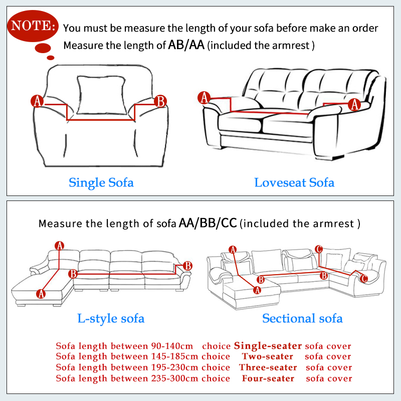 Sofa Slipcovers Stretch Sectional Sofa Covers For 1/2/3/4 Seater Soft  Flannel Slipcovers Elastic Couch Cover Furniture Covers  In Sofa Cover From  Home ...