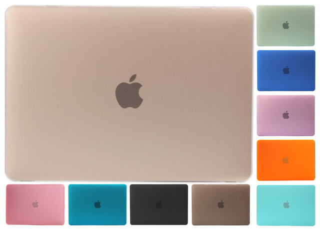 Matte For Macbook Air 13 Case Hard Air 11 13 Pro 13 15 12 Retia Cover Frosted Polish A1707 A1706 A1708 Scrub Laptop Shell Bag