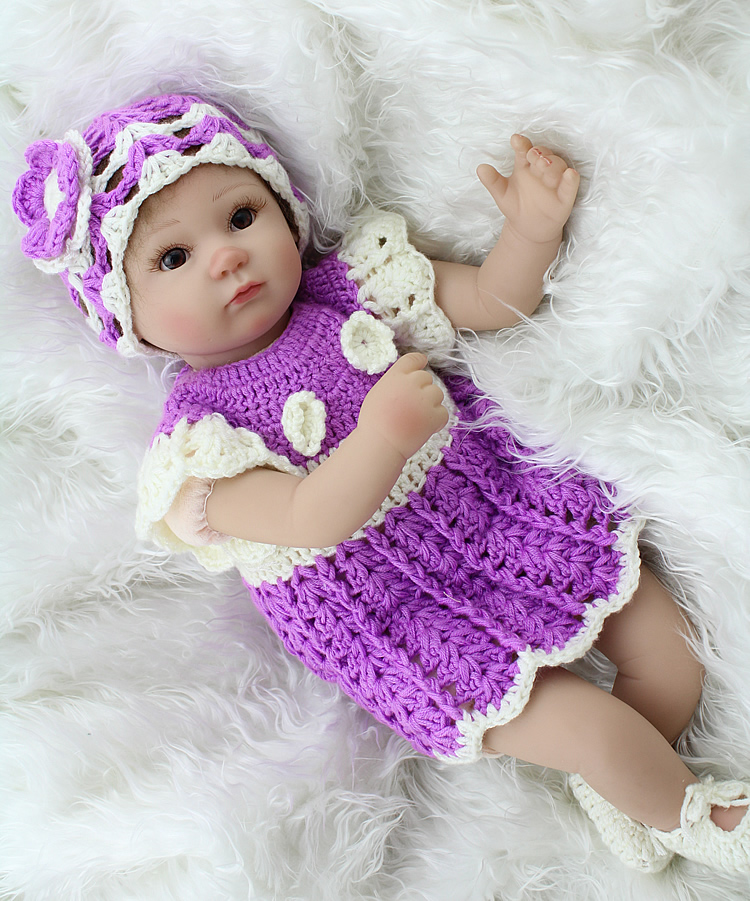 Silicone Reborn Baby Dolls Realistic Handmade Baby Alive Doll Safe Classic font b Toys b font