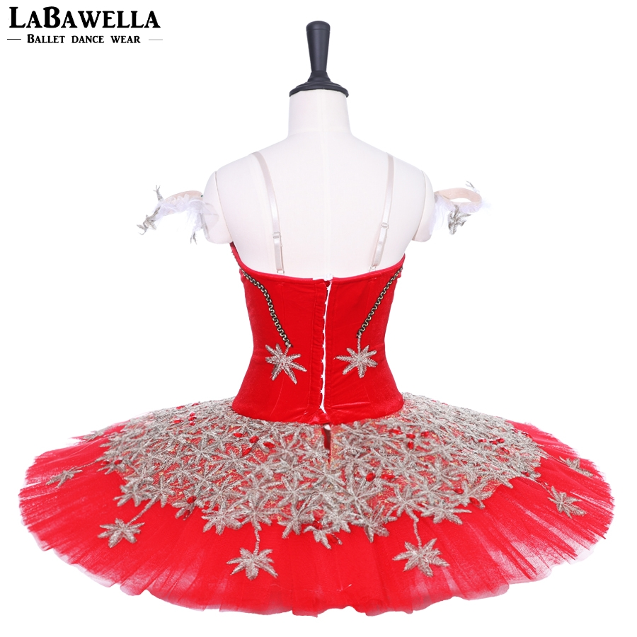 Aislor Womens Ballet Tutu Ruffle Skirt Costume Black Swan Lake Dance Leotard Dress