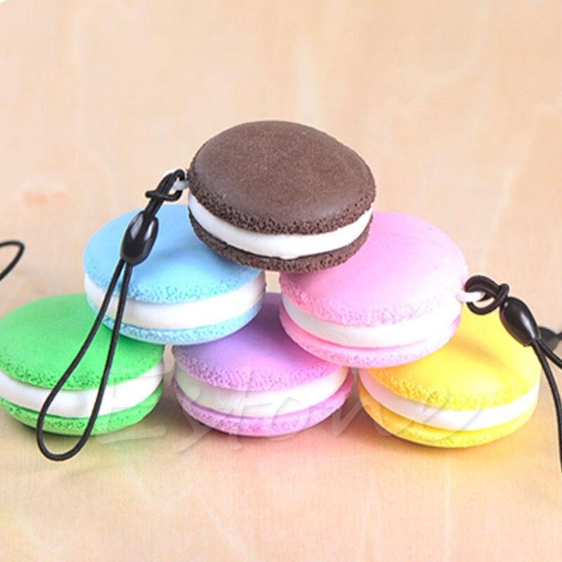 Kawaii Soft Dessert Squishy Cute Keychain Cell phone Charms Key Straps Pendant t15