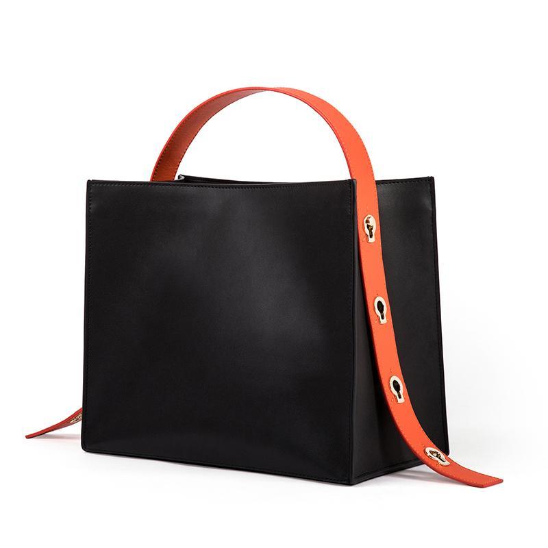 Moda kobiety skórzane torebki damskie Patchwork wzór Top torby z uchwytami nowe mody dziewczyny torby na ramię jakości torba composite w Torby z uchwytem od Bagaże i torby na  Grupa 2