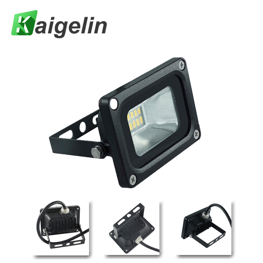 Kaigelin Flood Light 10W 220V 720LM SMD 5730 Refletor Led Outdoor Lighting For Street Square Highway Wall Billboard Floodlights ultrathin led flood light 200w ac85 265v waterproof ip65 floodlight spotlight outdoor lighting free shipping