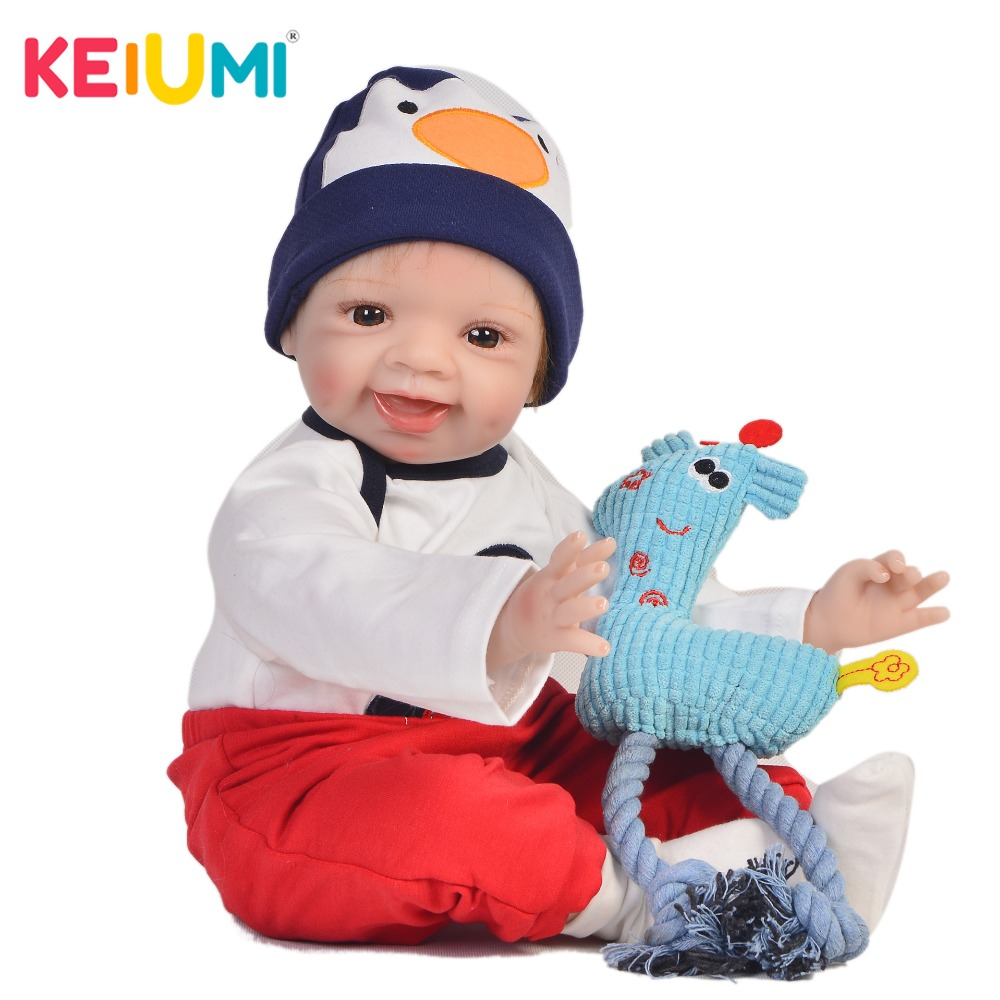 KEIUMI Lifelike 22 Inch Newborn Baby Doll Cloth Body Realistic Lovely Baby Doll Toy For Children's Day Kid Birthday Xmas Gifts keiumi real 22 inch newborn baby doll cloth body realistic lovely baby doll toy for children s day kid christmas xmas gifts