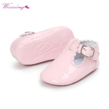 Baby Shoes Toddler Infant Girl Spring PU Leather Solid Color