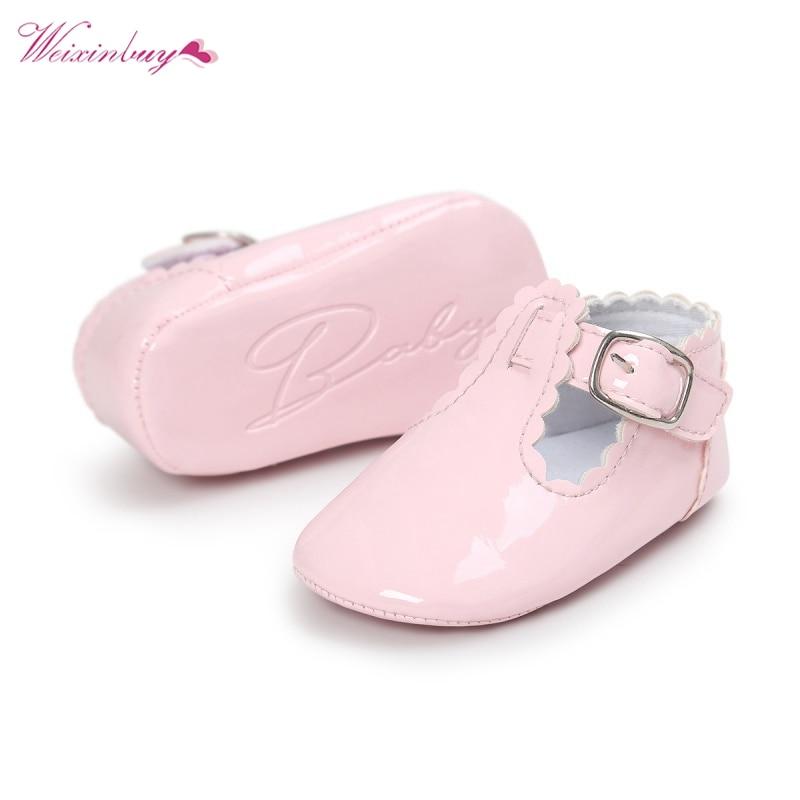 Baby Shoes Toddler Infant Girl Spring PU Leather Solid Color Waterproof First Walker Anti-slip  Prewalker