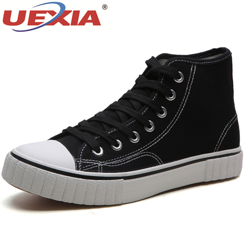 UEXIA 2018 New Autumn Winter British Style Men Shoes Casual Shoes Men High Tops Fashion Hip Hop Shoes Zapatos Hombre Size 39-44