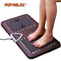 POP RELAX NUGA BEST NM55 Tourmaline Germanium Foot Arch Acupuncture Massage Mat Second Heart Electric Heating Foot Massager F01B