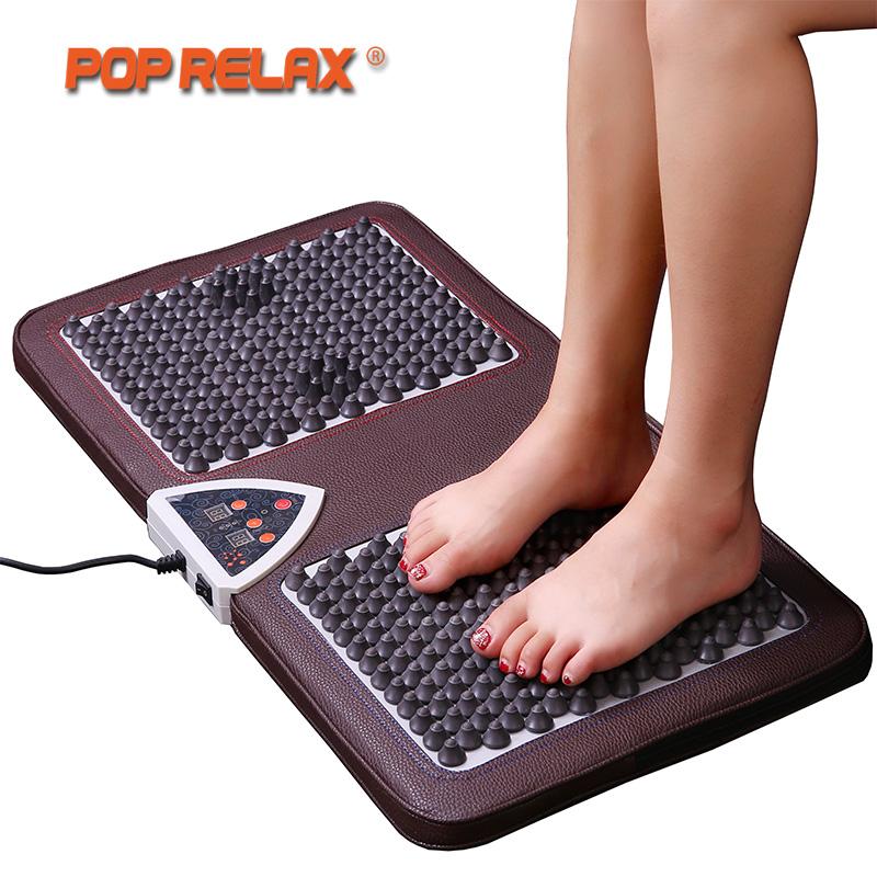 POP RELAX NUGA MEILLEUR NM55 Tourmaline Germanium Pied Arc Acupuncture Tapis De Massage Deuxième Coeur Chauffage Électrique Massage des Pieds F01B