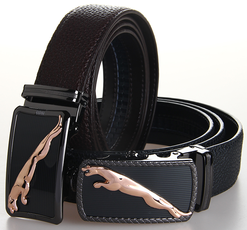 stylish genuine leather belt for lychee skin cowhide
