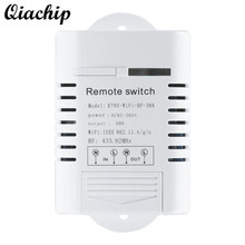QIACHIP AC 220V UK Plug WiFi Smart Home Switch 433MHz Outlet Switch Work With Amazon Alexa Timing Remote Control Switch Socket